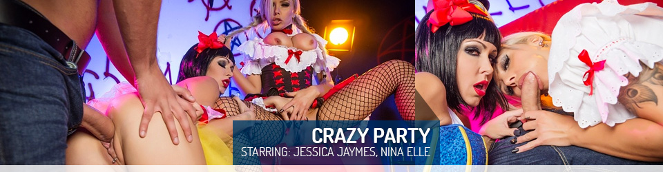 Jessica Jaymes and Nina Elle Crazy Party