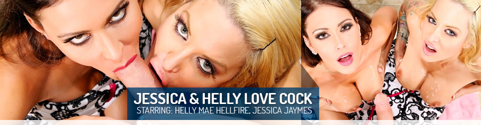 Jessica Jaymes and Helly Mae HellFire Love Cock